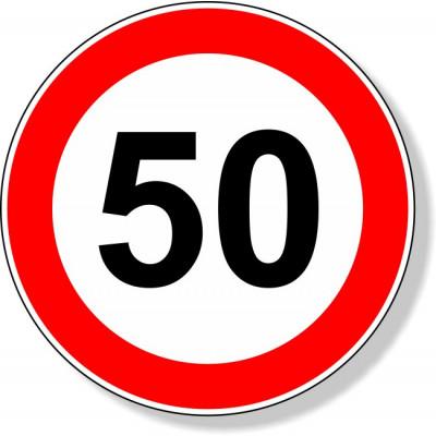 Ronde 50 sticker