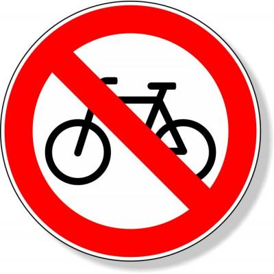 Verboden voor fietsen sticker